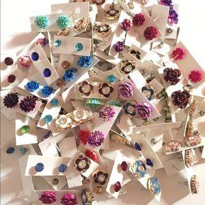 ✅50 Pairs 🤩 of studs earrings Wholesale lot